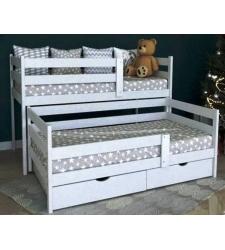 Детская кровать ВИРСАВИЯ-2 выкатная двухьярусная