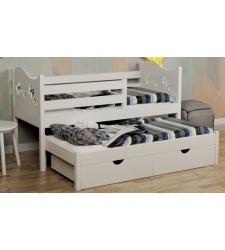 Кровать ФЛАЙ детская выкатная двухъярусная