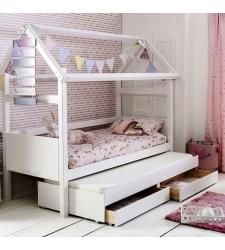 Детская кровать-домик МИА с выкатным спальным местом