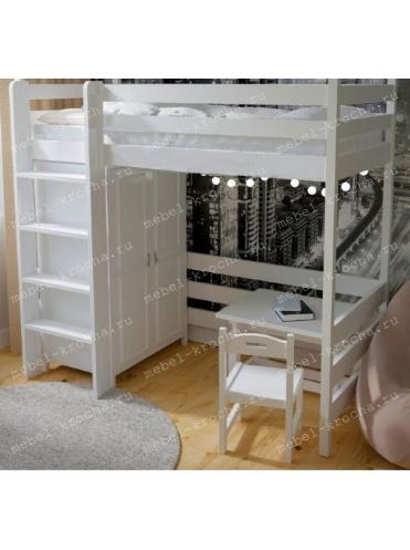 Кровать-чердак ЮНИОР-2 со шкафом