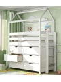 Кровать-домик  ИДЕЯ-2  с комодом